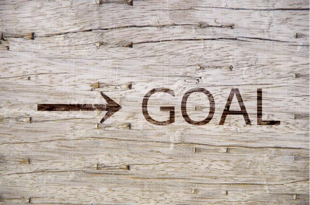 矢印とゴールのイメージ