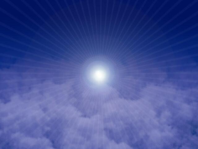 夜空と光放射