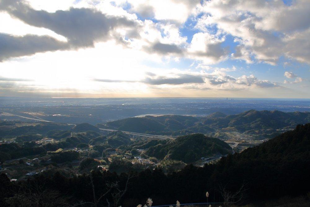 滝沢展望台から見える風景