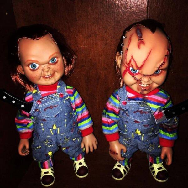 怖い人形の写真