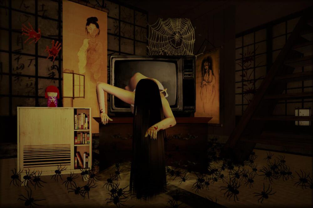 テレビ画面から出てくる貞子のイメージ画像