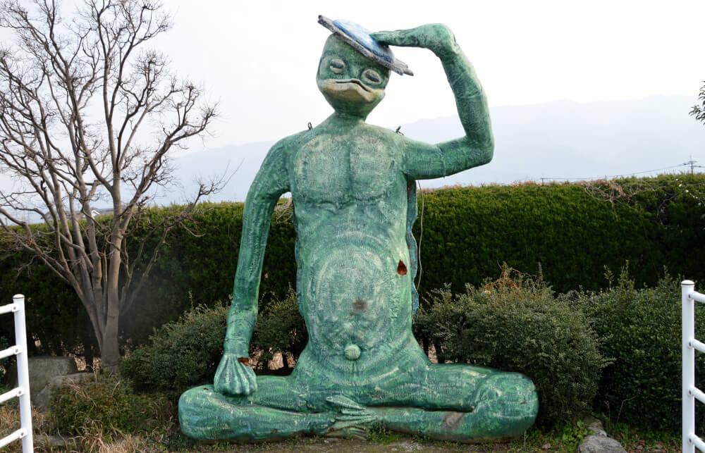 河童の銅像の写真