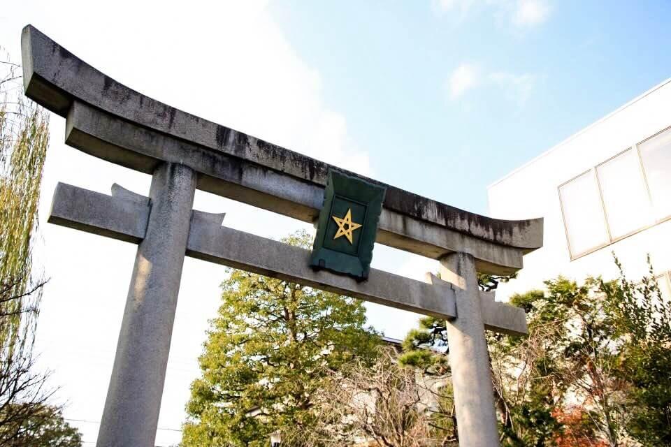 晴明神社の鳥居の写真