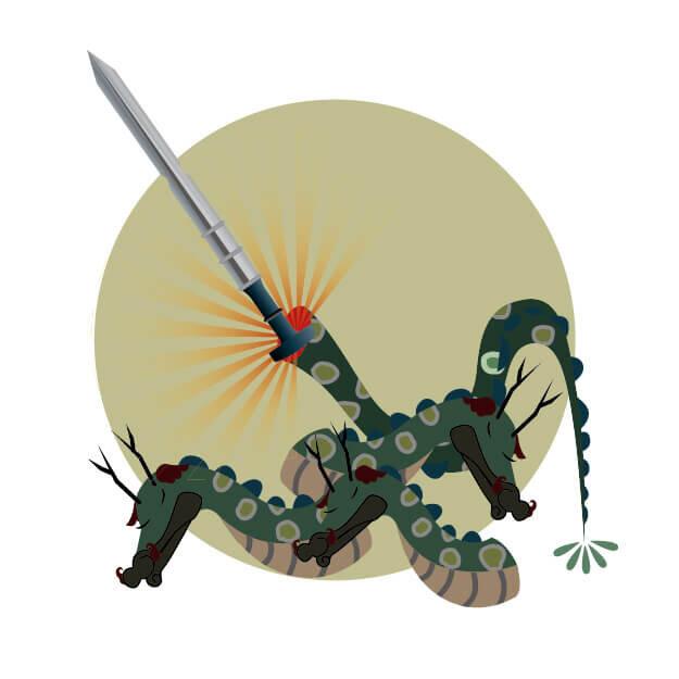 ヤマタノオロチから出てきた剣のイラスト画像