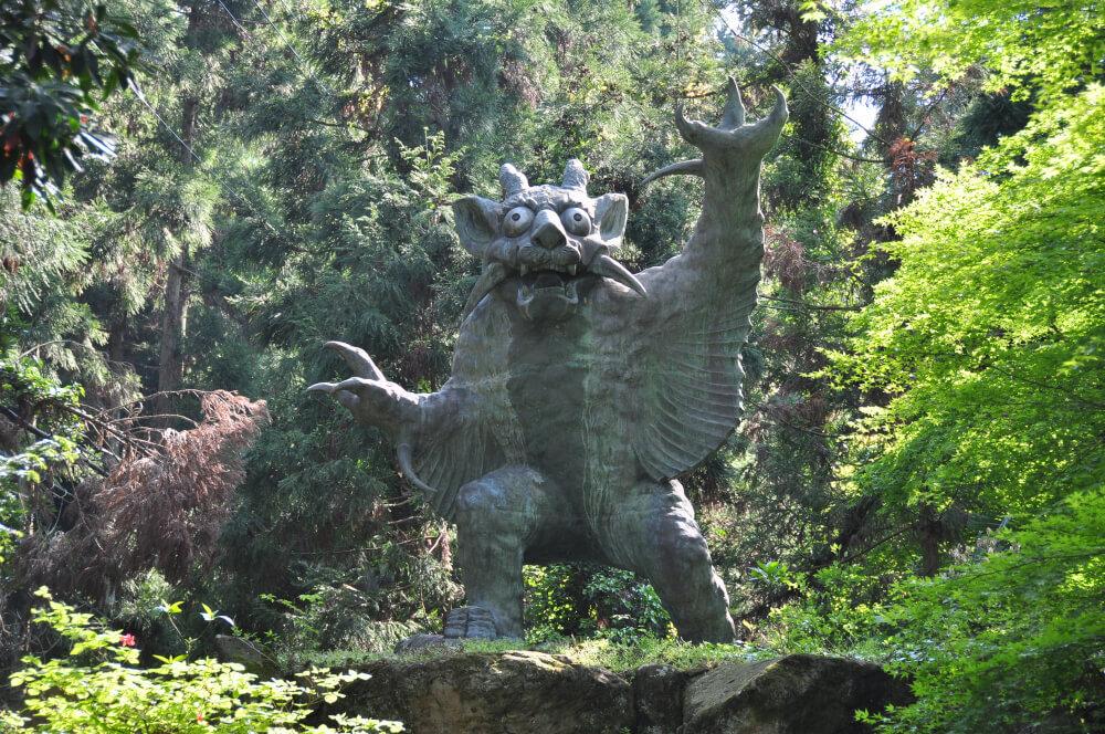 牛鬼の像の写真