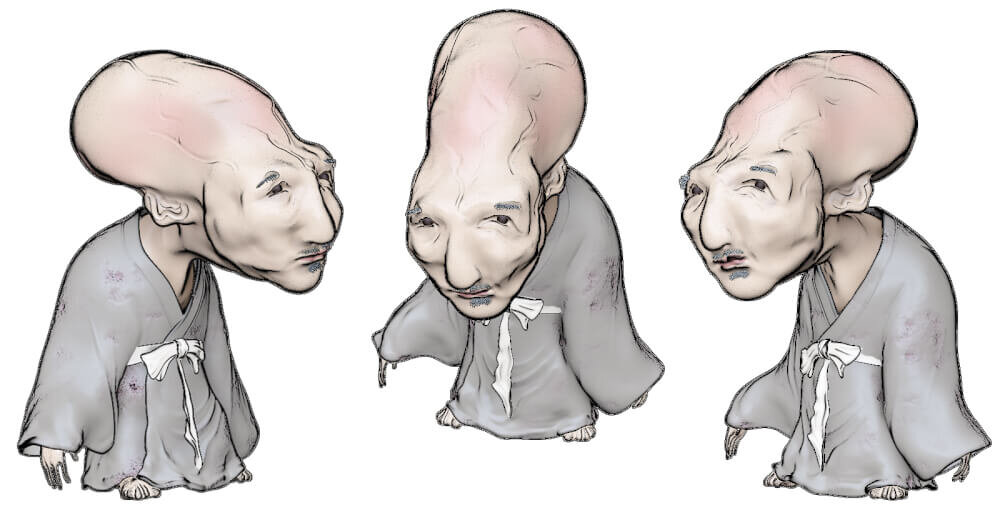 妖怪のぬらりひょんのイラスト画像