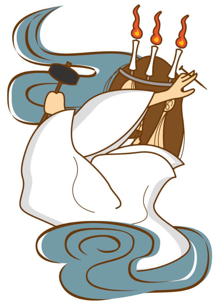 橋姫のイラスト画像