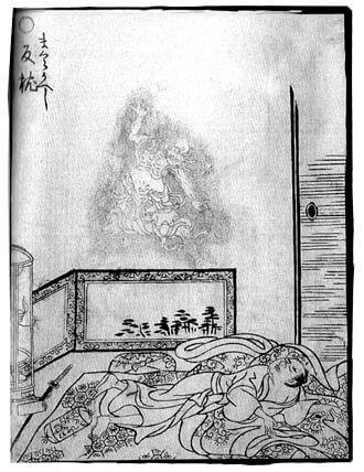 妖怪の枕返しの肖像画