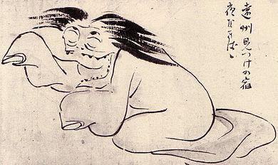 妖怪の夜泣き婆の肖像画