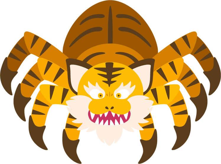 土蜘蛛のイラスト画像