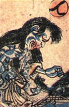 妖怪の隠れ婆の肖像画