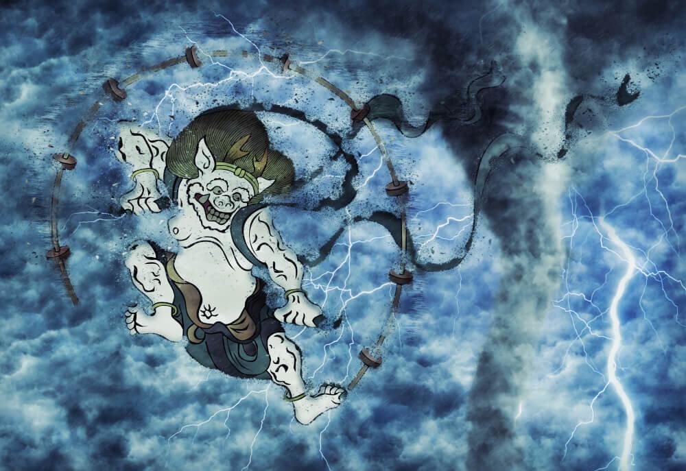 雷神のイラスト画像